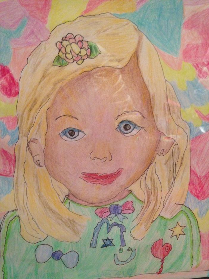 My daughter's self-portrait.