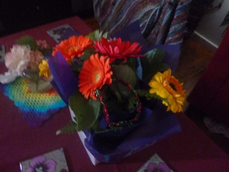 Flowers I bought munchkin.